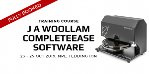 FULLY BOOKED | J A Woollam CompleteEase Software Training Course 2019