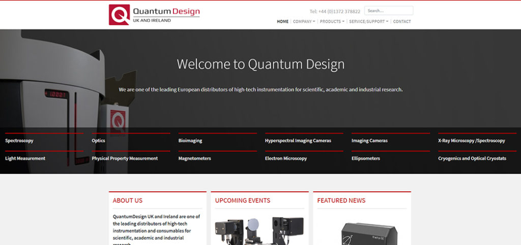Quantum Design UK and Ireland New Website