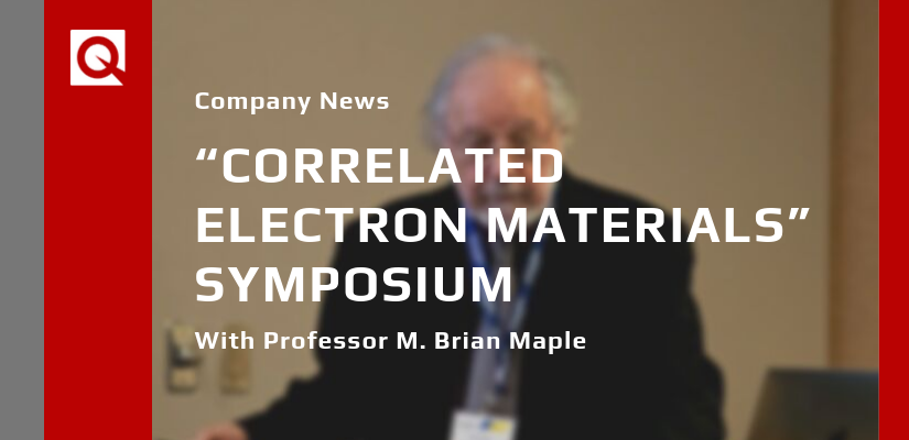 "Quantum Design Takes Part in ""Correlated Electron Materials"" Symposium"