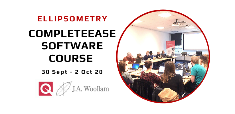 J A Woollam CompleteEase Software Training Course 2020 – changed to online course 🗓 🗺