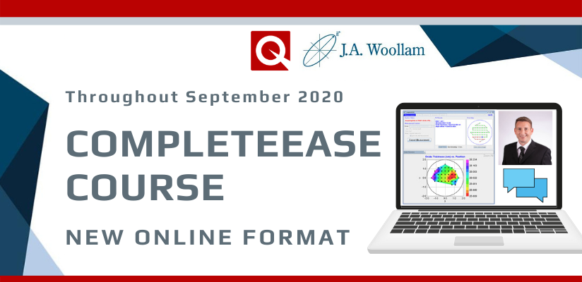 J A Woollam CompleteEase Software Training Course 2020 – changed to online course