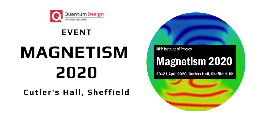 Quantum Design Exhibiting at Magnetism 2020 🗓 🗺