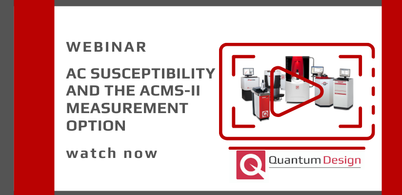 AC Susceptibility and the ACMS-II Measurement Option Webinar 🗓