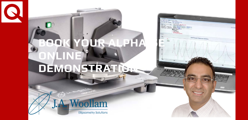 Book your alpha-SE ellipsometer online demo now!