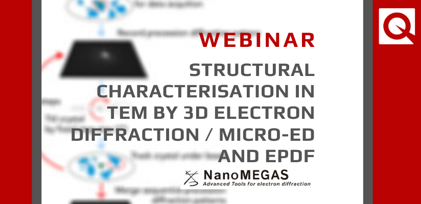 WEBINAR | Structural Characterisation in TEM by 3D Electron Diffraction / Micro-ED and ePDF