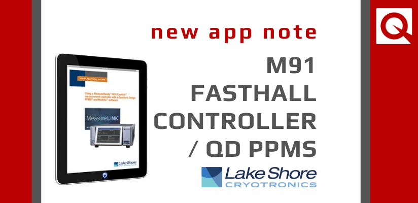 Did you know you can use an M91 FastHall measurement controller with a PPMS?