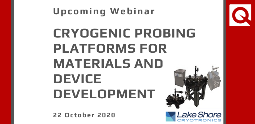 WEBINAR:  Cryogenic Probing Platforms for Materials and Device Development