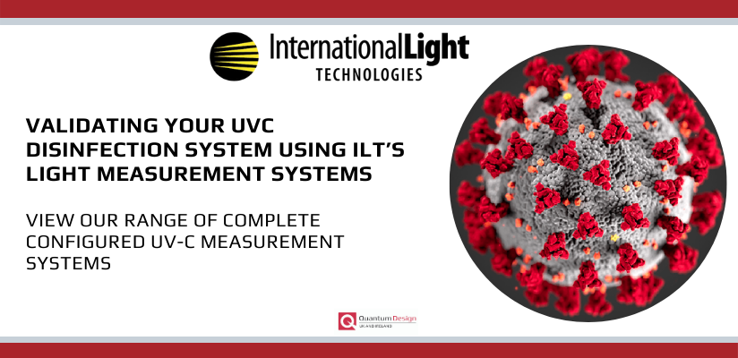 Are You Getting The Correct Dose On Your PPE?  See our range of UVC Measurement Products!