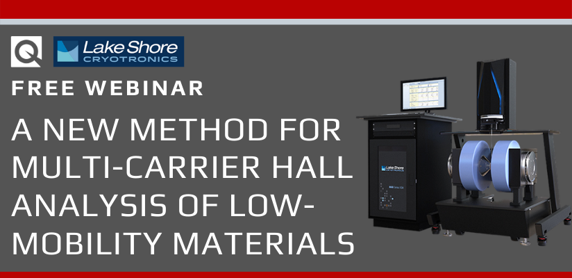 WEBINAR:  A New Method for Multi-Carrier Hall Analysis of Low-Mobility Materials