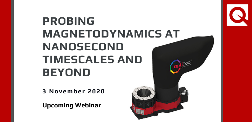 WEBINAR:  Probing magnetodynamics at nanosecond timescales and beyond 🗓