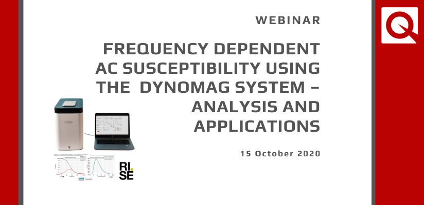 WATCH NOW!  WEBINAR:  Frequency dependent AC susceptibility using the DynoMag system – analysis and applications