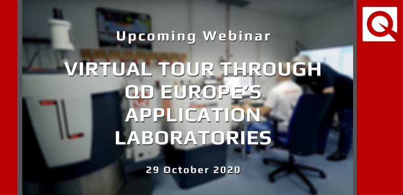 WEBINAR:  Virtual tour Through QDE's Application Laboratories 🗓