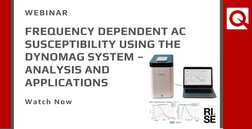 Watch Now:  Frequency dependent AC susceptibility using the DynoMag system – analysis and applications