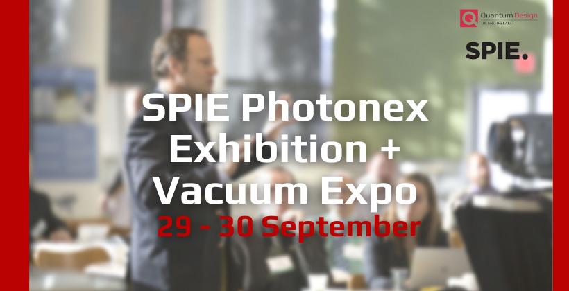 SPIE Photonex + Vacuum Technologies 🗓 🗺
